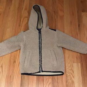 Hanna andersson fuzzy fleece coat size 90 us 3t